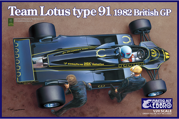 1/20 Team Lotus Type 91 1982 British GP