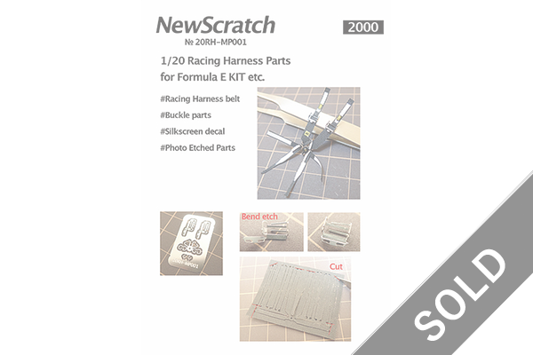 1/20 Racing Harness Parts for Formula E
