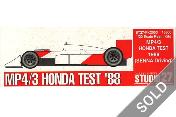 1/20 McLaren MP4/3 Honda Test 1988 (Senna Driving)
