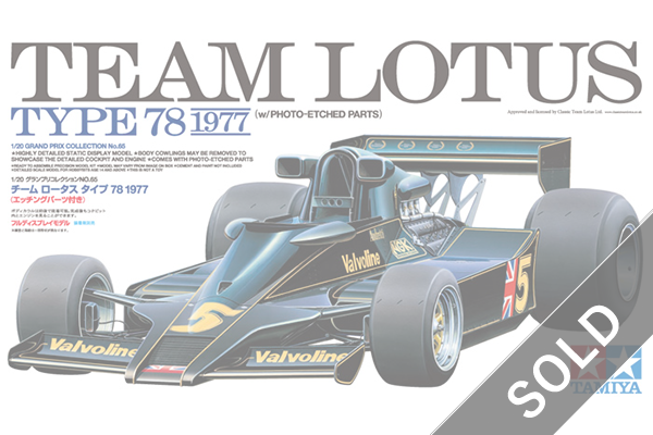 1/20 SCALE TEAM LOTUS TYPE 78 1977