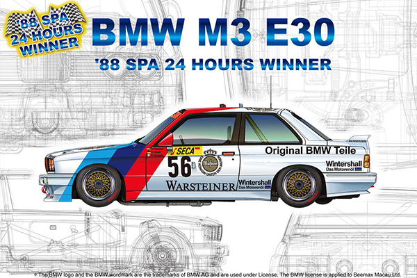 1/24 BMW M3 E30 GroupA 1988 Spa 24h Winner