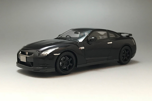 1/43 Nissan GT-R R35 Spec V 2009 Ultimate Opal Black Ver.